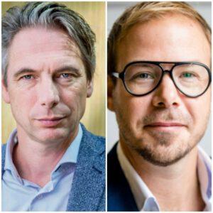 Tuur Elzinga & Gijs van Dijk komen supermarktmedewerkers steunen tijdens de staking in Alblasserdam.