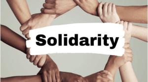 Wereldwijde solidariteitsverklaringen  blijven binnen komen.