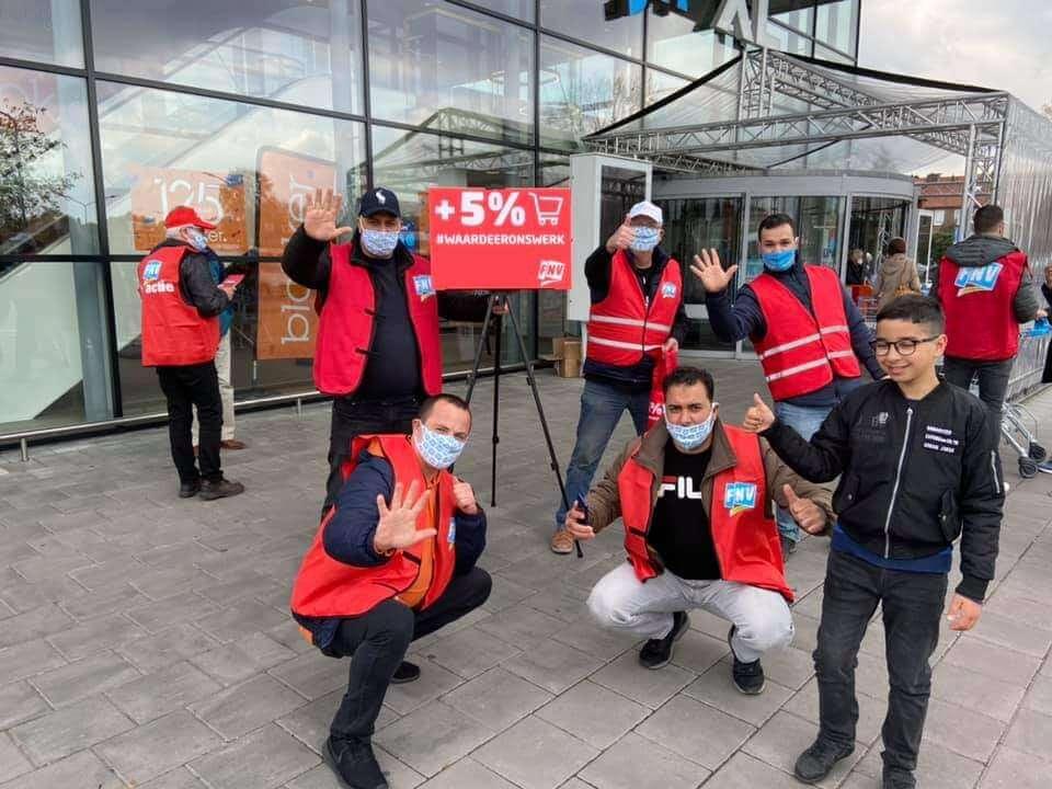 Werkende helden trekken naar Nijmegen met 3 sectoren om actie te voeren.